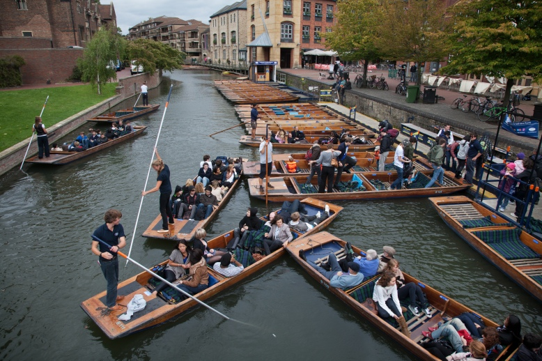 Punting in Cambridge, UK